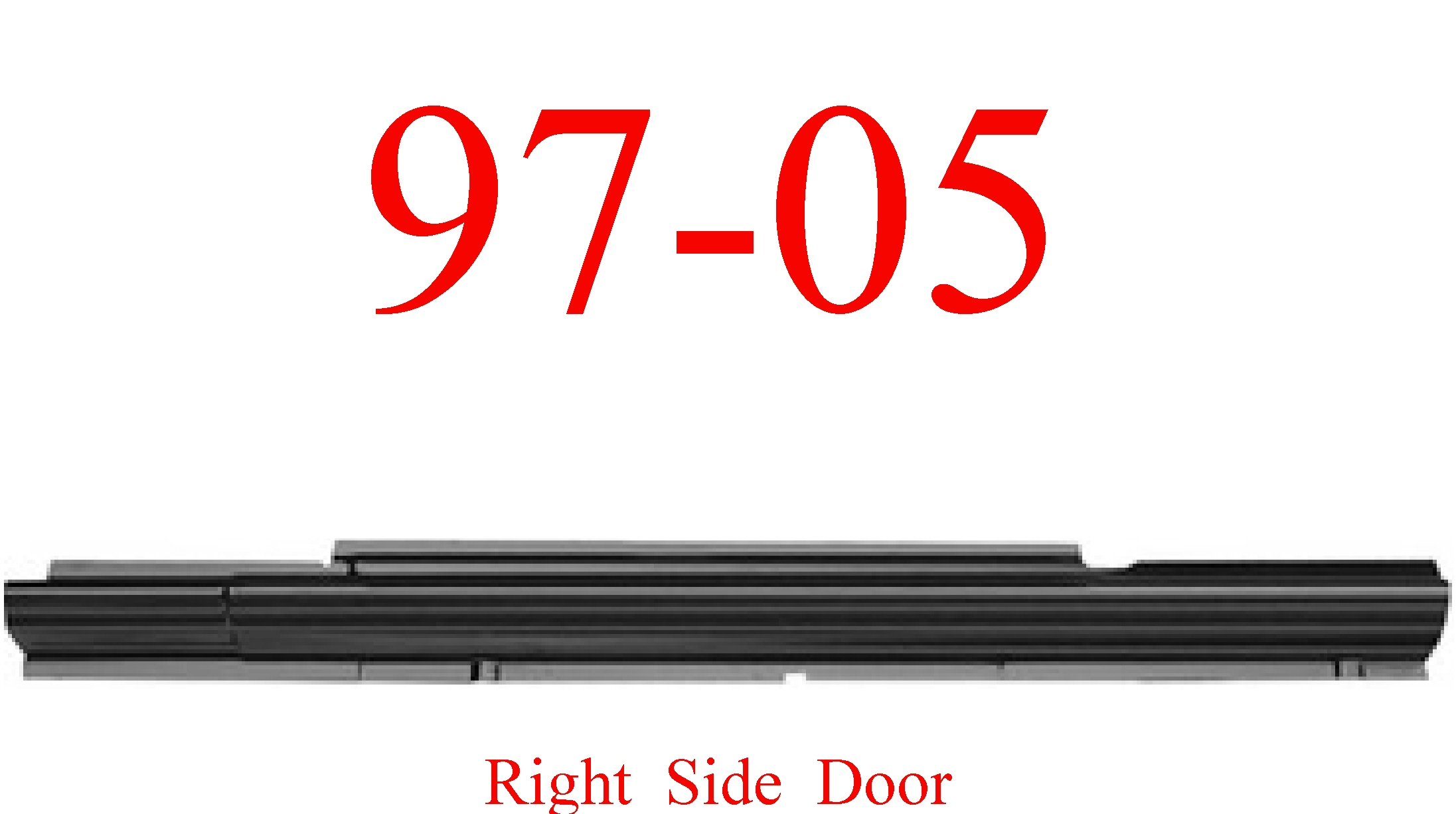 97-05 Chevy Venture Right Sliding Door Rocker Panel